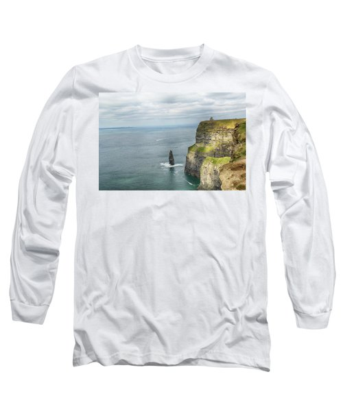 Long Sleeve T-Shirt featuring the photograph Cliffs Of Moher 3 by Marie Leslie