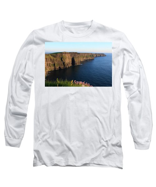 Cliffs Of Moher In Evening Light Long Sleeve T-Shirt