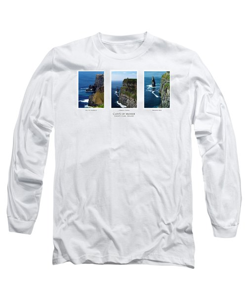 Cliffs Of Moher Ireland Triptych Long Sleeve T-Shirt
