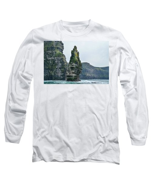 Cliffs Of Moher Sea Stack Long Sleeve T-Shirt