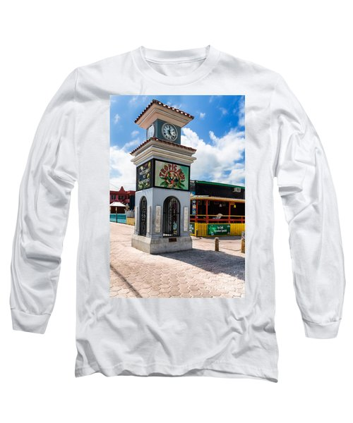 Long Sleeve T-Shirt featuring the photograph Clock Tower by Lawrence Burry