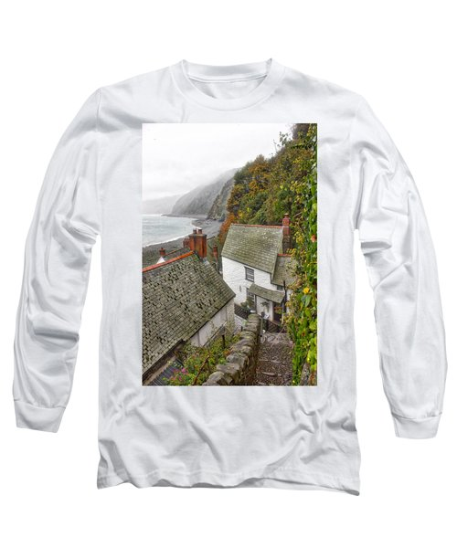 Clovelly Coastline Long Sleeve T-Shirt by RKAB Works