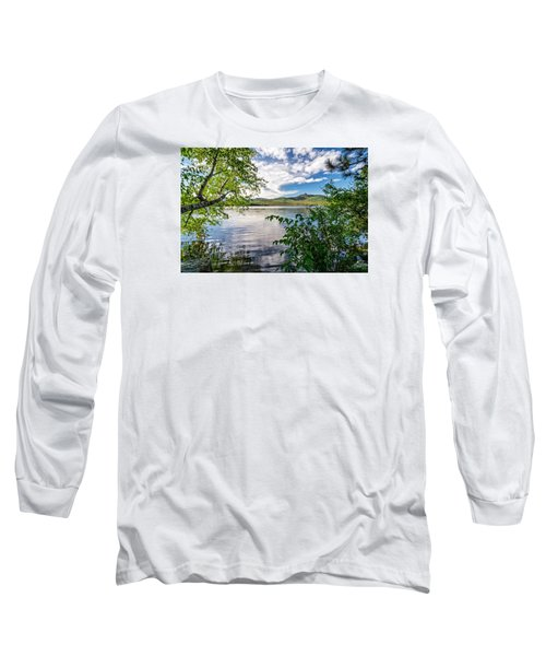 Cloud Swirl Mt. Chocorua Nh Long Sleeve T-Shirt by Michael Hubley
