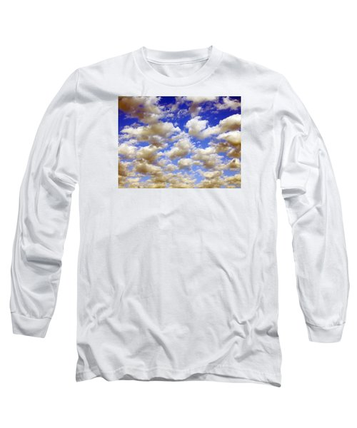 Clouds Blue Sky Long Sleeve T-Shirt by Jana Russon