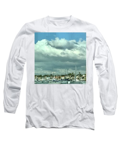 Clouds On The Bay Long Sleeve T-Shirt by Kim Nelson