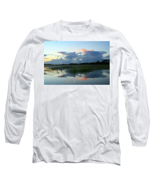 Clouds Over Marsh Long Sleeve T-Shirt by Patricia Schaefer