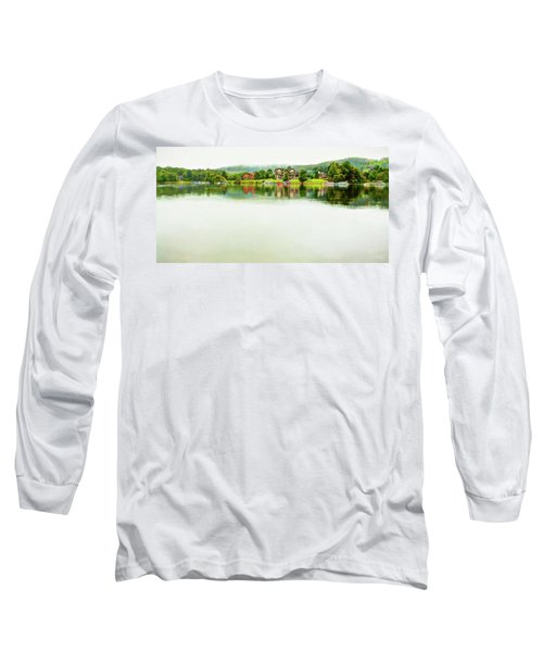 Cloudy Day On The Lake Long Sleeve T-Shirt