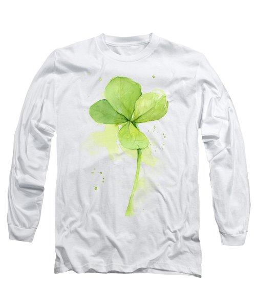 Clover Watercolor Long Sleeve T-Shirt