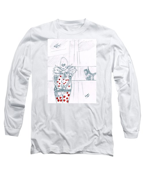 Clown With Crystal Ball And Mermaid Long Sleeve T-Shirt