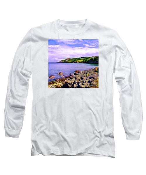 Rocky Coast At Howth Long Sleeve T-Shirt by Judi Bagwell
