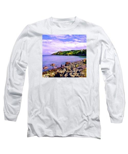 Rocky Coast At Howth Long Sleeve T-Shirt