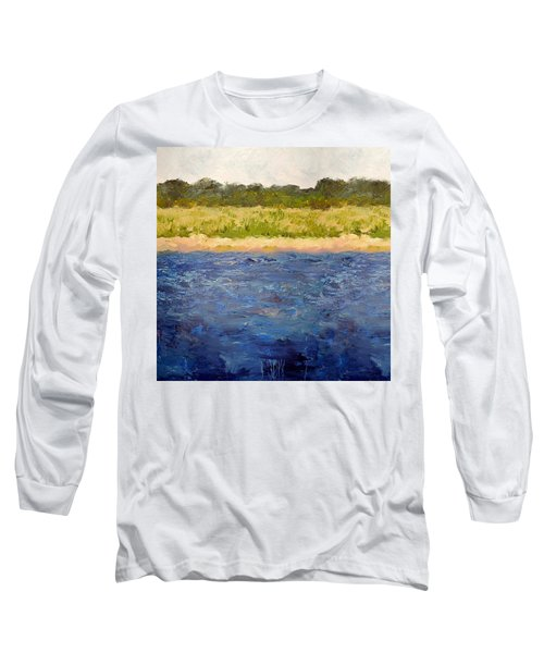 Long Sleeve T-Shirt featuring the painting Coastal Dunes - Square by Michelle Calkins