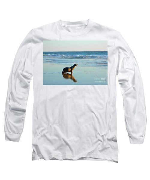 Long Sleeve T-Shirt featuring the photograph Coastal Friends by Everette McMahan jr