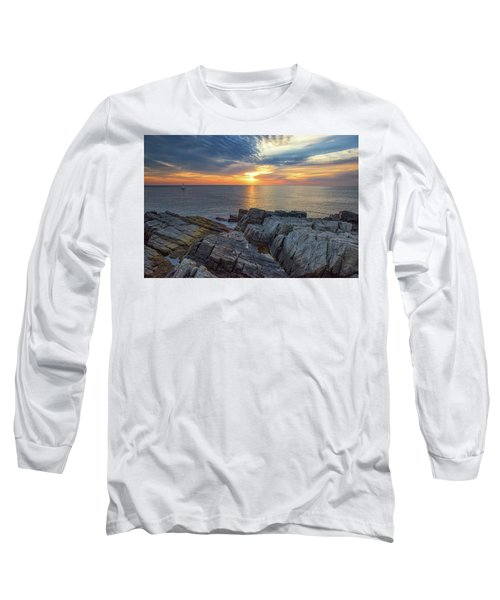 Coastal Sunrise On The Cliffs Long Sleeve T-Shirt