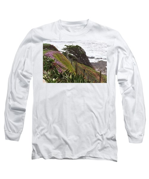 Coastal Windblown Trees Long Sleeve T-Shirt