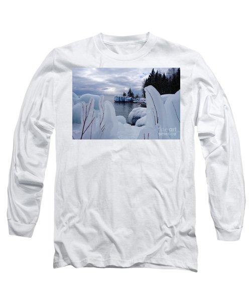 Coated With Ice Long Sleeve T-Shirt by Sandra Updyke