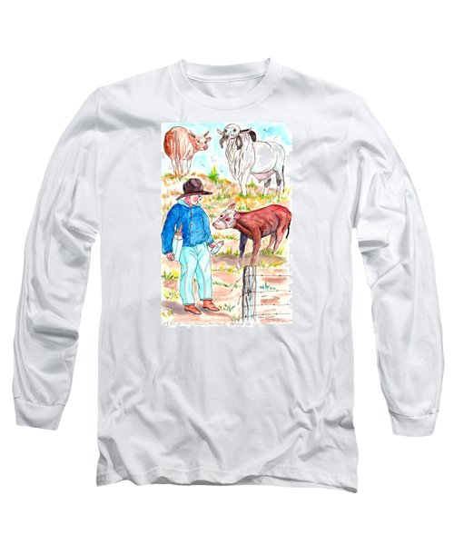 Coaxing The Herd Home Long Sleeve T-Shirt