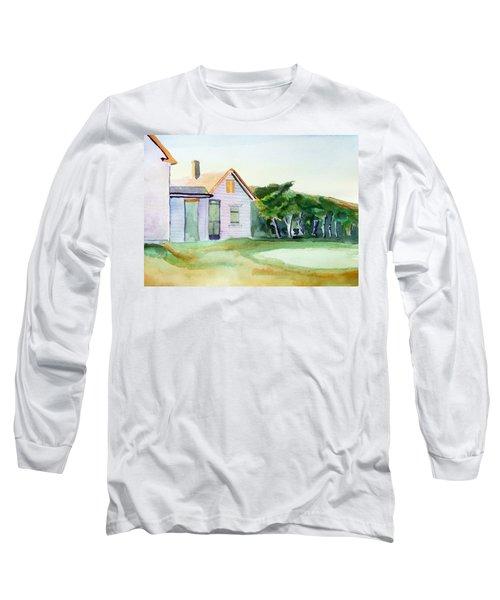 Cobb's House After Edward Hopper Long Sleeve T-Shirt