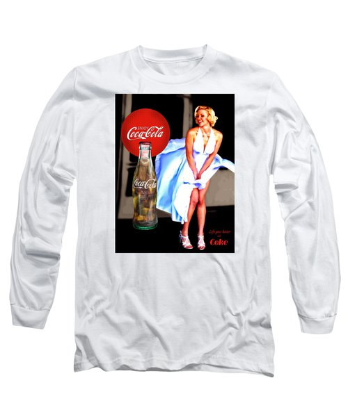 Long Sleeve T-Shirt featuring the photograph Coca Cola Girl Marilyn by James Sage