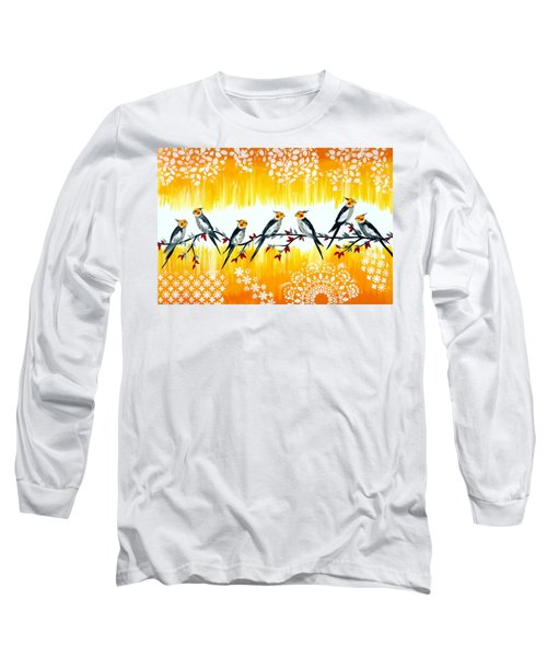 Cockatiels Long Sleeve T-Shirt by Cathy Jacobs