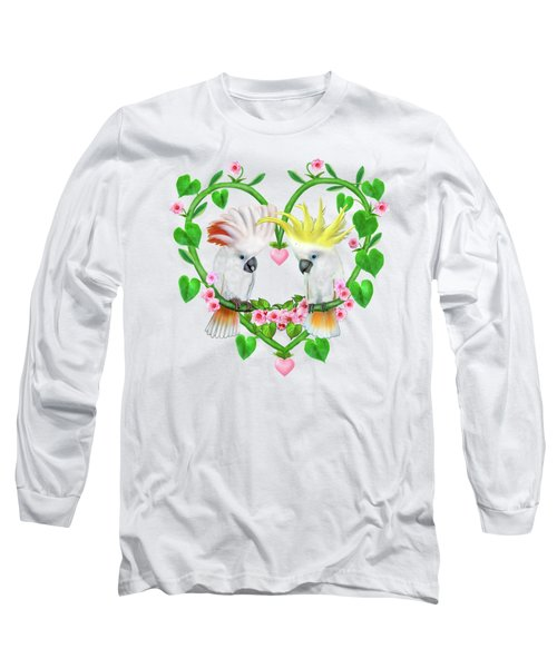 Cockatoos Of The Heart Long Sleeve T-Shirt by Glenn Holbrook