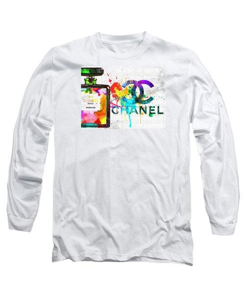 Coco Chanel No. 5 Grunge Long Sleeve T-Shirt by Daniel Janda