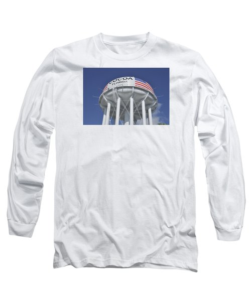 Long Sleeve T-Shirt featuring the photograph Cocoa Florida Water Tower by Bradford Martin