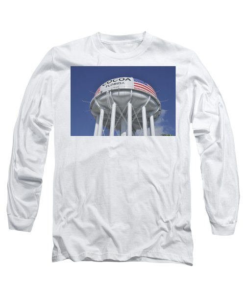 Cocoa Florida Water Tower Long Sleeve T-Shirt