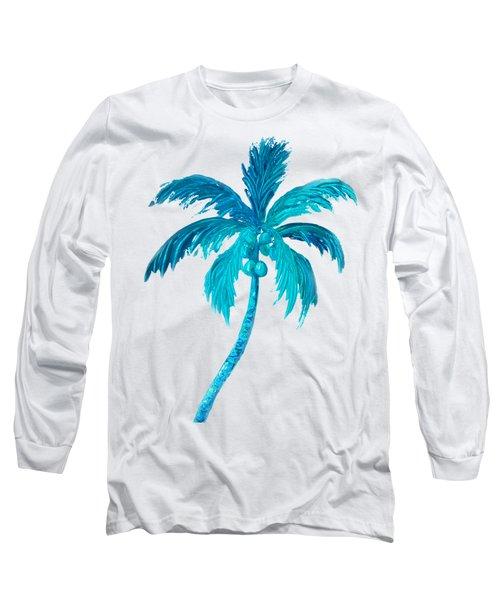 Coconut Palm Tree Long Sleeve T-Shirt by Jan Matson
