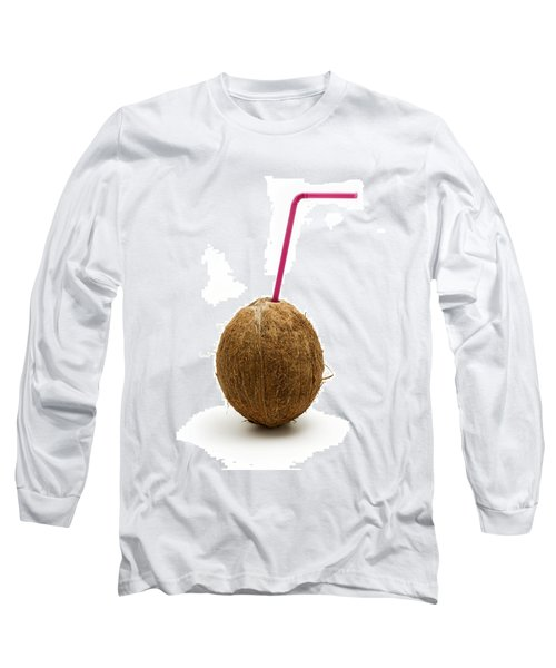 Coconut With A Straw Long Sleeve T-Shirt