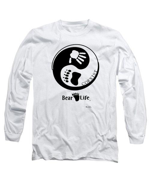 Coexist-yin Yang Bear Life Long Sleeve T-Shirt