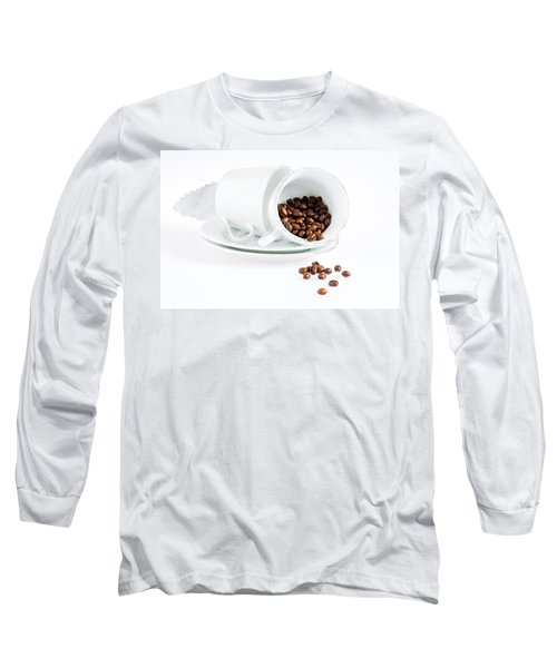 Coffee Cups And Coffee Beans  Long Sleeve T-Shirt