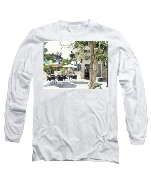 Coffee Lover's Expresso Bar At The Moll Boscana Town Square Long Sleeve T-Shirt