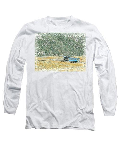 Cog Railroad Train. Long Sleeve T-Shirt