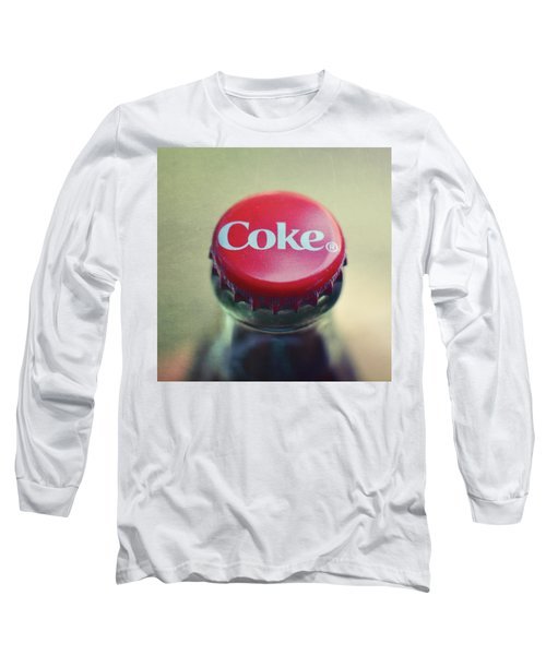 Coke Bottle Cap Square Long Sleeve T-Shirt by Terry DeLuco