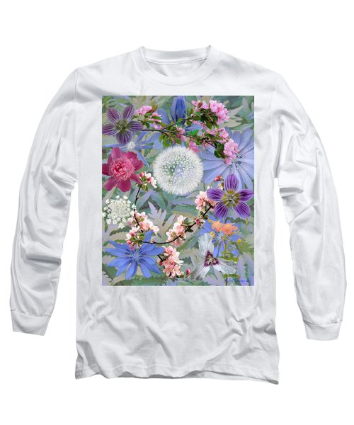 Long Sleeve T-Shirt featuring the digital art Collage One by John Selmer Sr
