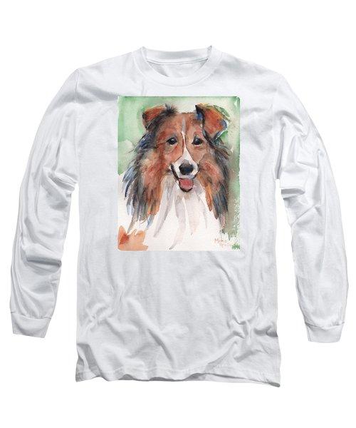 Collie, Shetland Sheepdog Long Sleeve T-Shirt by Maria's Watercolor
