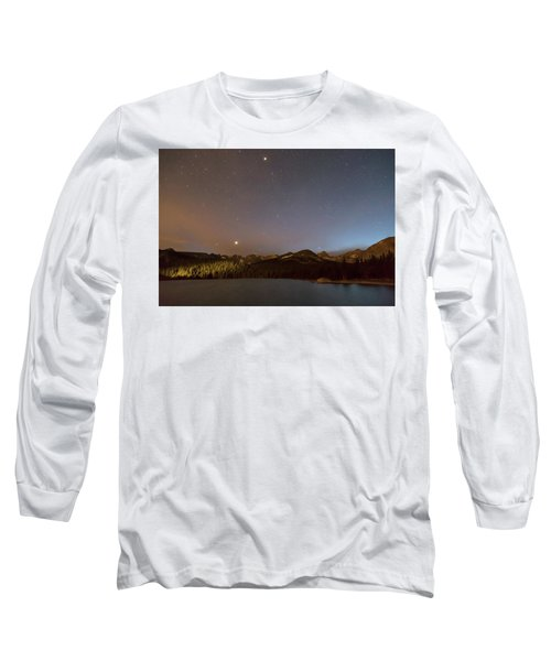 Long Sleeve T-Shirt featuring the photograph Colorado Indian Peaks Stellar Night by James BO Insogna