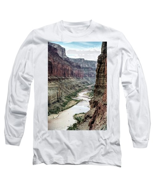 Colorado River And The East Rim Grand Canyon National Park Long Sleeve T-Shirt