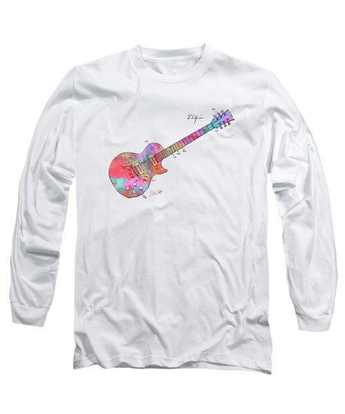 Colorful 1955 Mccarty Gibson Les Paul Guitar Patent Artwork Mini Long Sleeve T-Shirt
