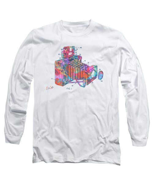 Colorful 1966 Photographic Camera Accessory Patent Minimal Long Sleeve T-Shirt