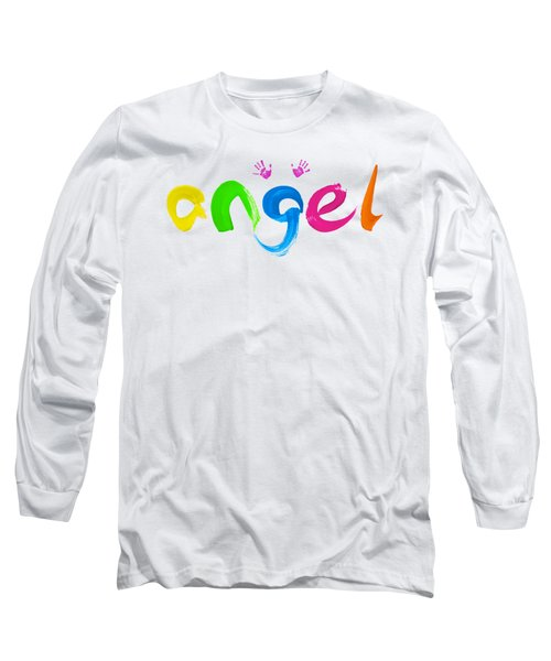 Long Sleeve T-Shirt featuring the painting Colorful Angel by Tim Gainey