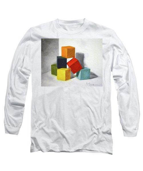 Colorful Blocks Long Sleeve T-Shirt