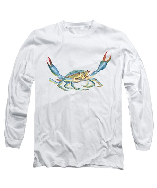 Colorful Blue Crab Long Sleeve T-Shirt