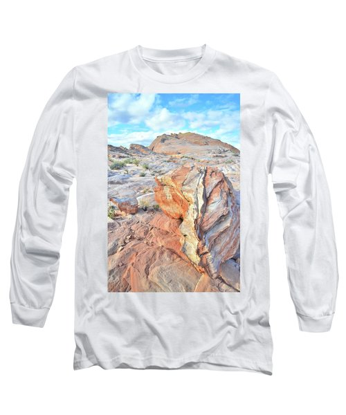 Colorful Boulder At Valley Of Fire Long Sleeve T-Shirt by Ray Mathis