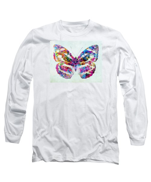 Colorful Butterfly Art Long Sleeve T-Shirt by Olga Hamilton