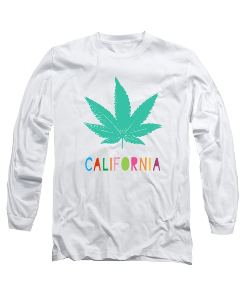 Colorful California Cannabis- Art By Linda Woods Long Sleeve T-Shirt
