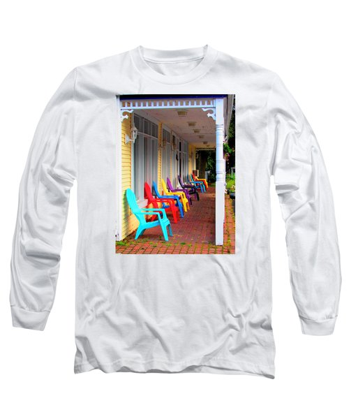 Colorful Chairs Long Sleeve T-Shirt