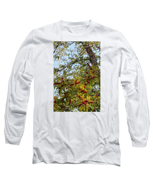 Long Sleeve T-Shirt featuring the photograph Colorful Contrasts by Deborah  Crew-Johnson