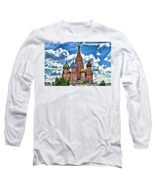 Colorful Domes Long Sleeve T-Shirt by Pravine Chester